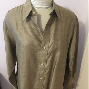 Other - NEW Silk Blend Shirt India Collared Button Size 44
